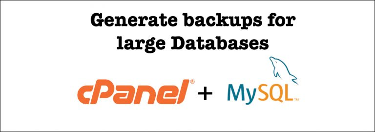 Read more about the article How to backup a huge MySQL database on a cPanel Hosting